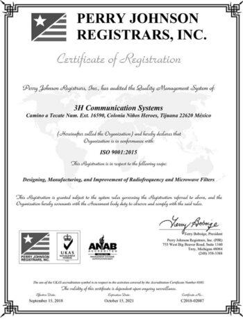 3H-ISO-Cert-2021